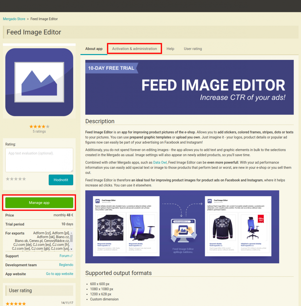 feed image editor preview